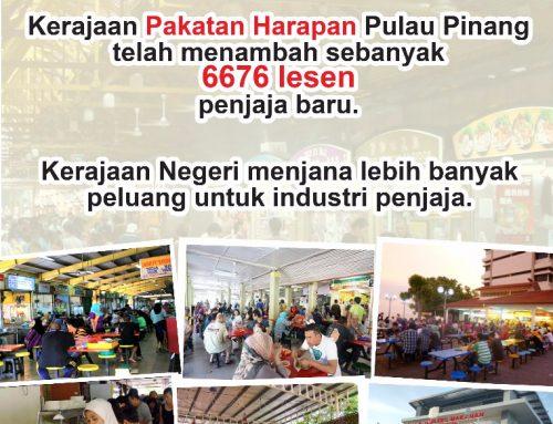 Kerajaan negeri Pulau Pinang menjana lebih banyak peluang untuk industri penjaja.